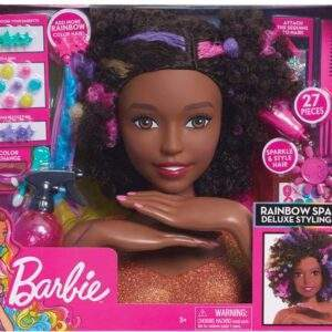 barbie sparkle deluxe styling head afro hair wholesale 42321