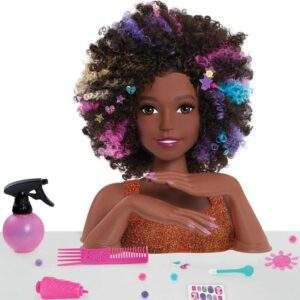 barbie sparkle deluxe styling head afro hair wholesale 42323