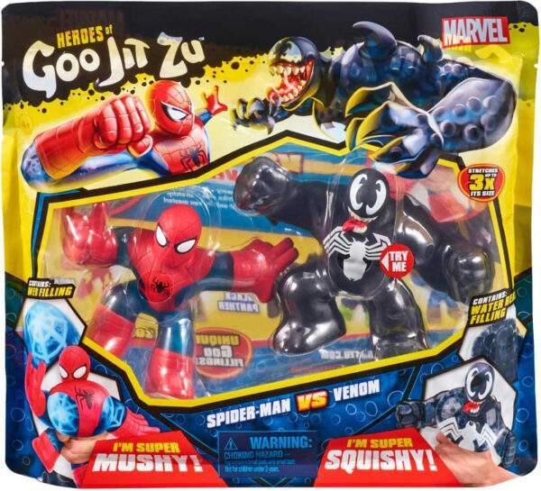 heroes of goo jit zu marvel versus pack spiderman vs venom wholesale 53421