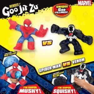 heroes of goo jit zu marvel versus pack spiderman vs venom wholesale 53423