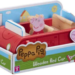 peppa pig wooden red car wholesale 52815