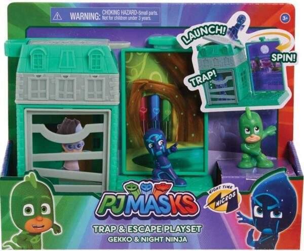 pj masks nighttime micros trap escape asst wholesale 46403