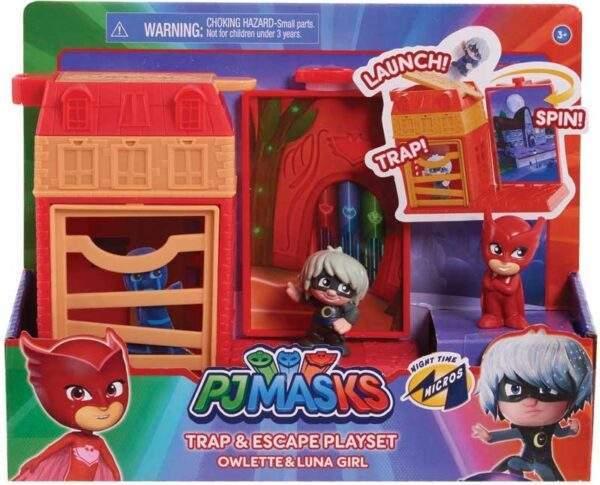pj masks nighttime micros trap escape asst wholesale 46405