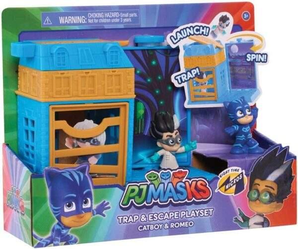 pj masks nighttime micros trap escape asst wholesale 46407